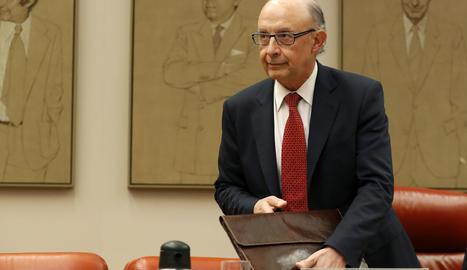 El ministre d'Hisenda, Cristóbal Montoro.