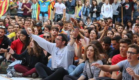 La concentració d'estudiants a la Universitat de Lleida