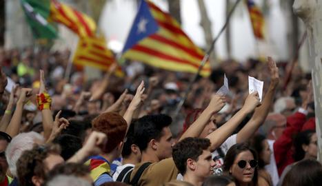 La manifestació d'aquest dijous a Barcelona