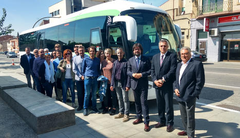 L'acte de presentació del nou servei de bus.