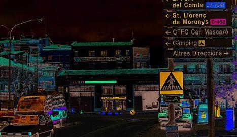 Una de les entrades al nucli urbà de Solsona.