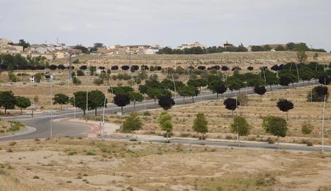 La zona de Torre Salses, entre la Bordeta i els Magraners, està urbanitzada però sense edificis.