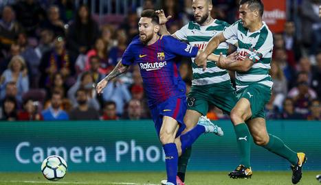 Leo va firmar quatre gols dimarts passat davant de l'Eibar.