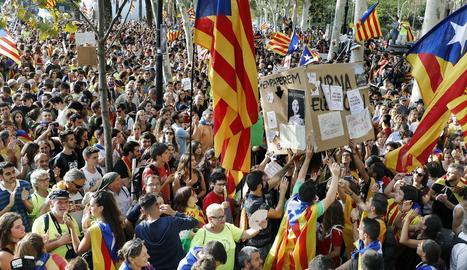 Concentració davant del Palau de Justícia de Barcelona