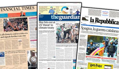 Catalunya, a les portades de la premsa internacional