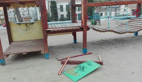 Un dels parcs que han registrat destrosses.