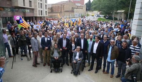Els edils de Torrefarrera i Rosselló, Jordi Latorre i Josep Abad.