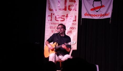 El cantautor solsonenc va actuar divendres al festival de Fondarella.