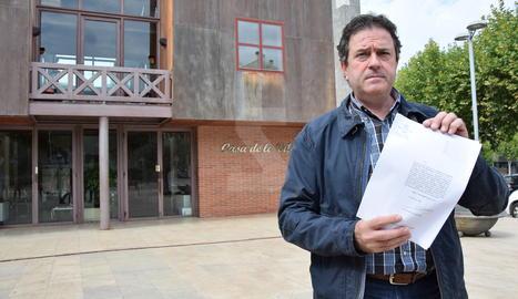 L'alcalde d'Oliana, Miquel Sala,