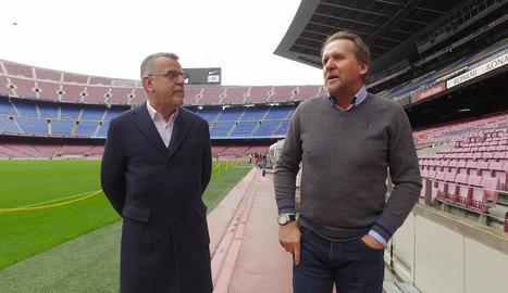 Canut i Schuster, al Camp Nou.