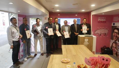 La presentació de Pork Lovers Tour a Lleida, en la qual va participar l'alcalde Àngel Ros.