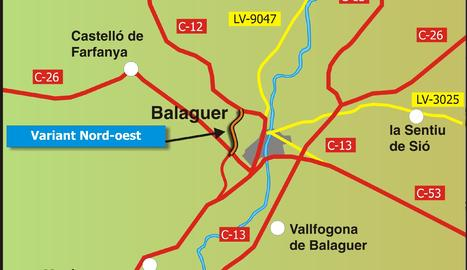 Mapa de la nova variant de Balageur
