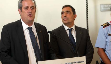 El conseller d'Interior, Joaquim Forn, i el director dels Mossos d'Esquadra, Pere Soler.