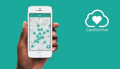 Imatge de l'aplicació de Cardionlive.