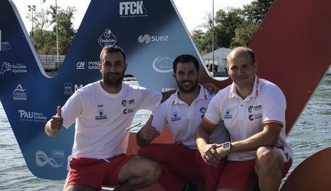 David Martínez, Xavi Miralles i Germán Jiménez, eliminats ahir.