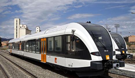 Un dels dos trens de la línia de Lleida-La Pobla de Segur