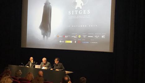 Presentació oficial ahir a Barcelona de la 50a edició del Festival de Cinema Fantàstic de Sitges.