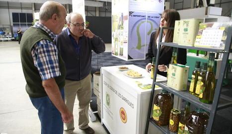 Visitants van tastar oli d'oliva ahir a la Fira.