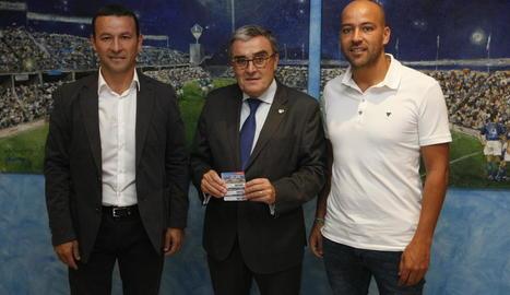 La plantilla del Lleida seguia ahir amb expectació el sorteig de la Copa del Rei.
