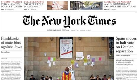 Imatge de la portada del 'The New York Times' d'ahir.