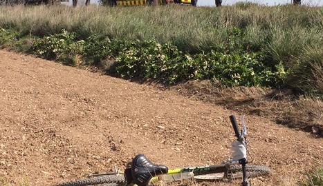 Imatge d'arxiu de l'accident mortal de Vilanova de Bellpuig del mes d'abril passat.