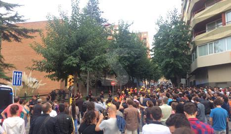 Concentració davant del Govern Militar a Lleida