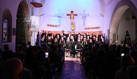 Un moment del concert 'Songs.cat' dissabte a Alfés.