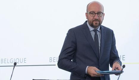 El primer ministre belga, Charles Michel, va condemnar la repressió a Catalunya.