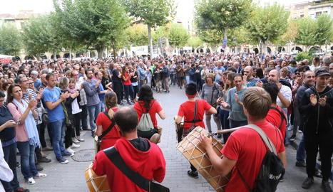 A Balaguer, centenars de veïns van celebrar el dia del referèndum com una jornada festiva i musical.