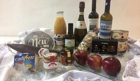 El lot de productes típics de Lleida.