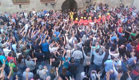 Concentració a la plaça Paeria.