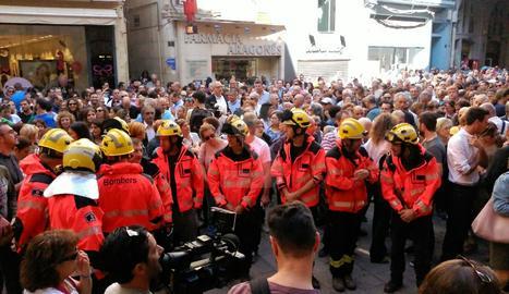 Concentració a la plaça Paeria