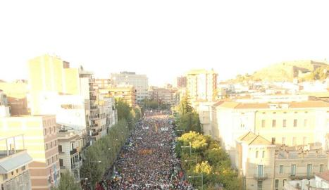 Massiva mobilització a Lleida contra la repressió policial.