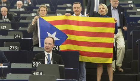 Eurodiputats amb l'Estelada.