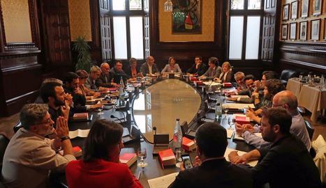 La reunió del a junta de portaveus del Parlament.