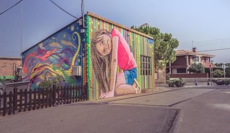 El mural de l'artista Oriol Arumí va guanyar el premi del públic del certamen.