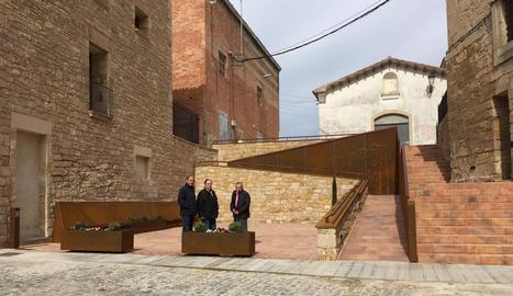 Les obres de millora de la plaça Abadia.