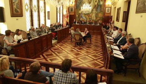 Imatge de la sessió del ple de la Diputació de Lleida.