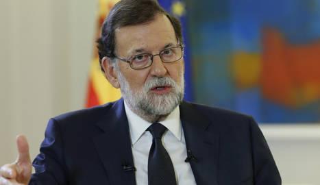 Mariano Rajoy, durant l'entrevista.