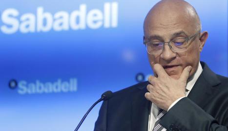 El president de Banc Sabadell, Josep Oliu, entitat que deixa de tenir seu social catalana.