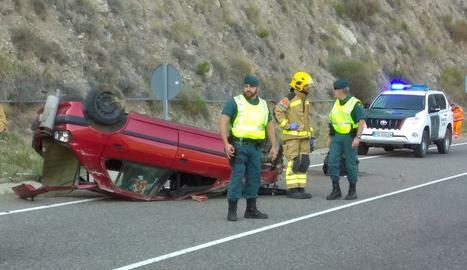 L'accident a la C-14 a Peramola