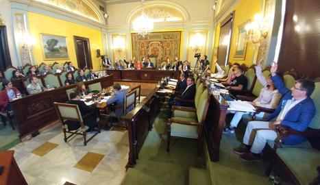 Els edils del PSC, Cs i PP van votar a favor de les ordenances fiscals del 2018.