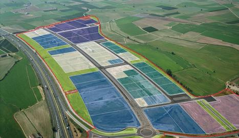 Vista del sector industrials Vinyes del Mig de Bell-lloc d'Urgell.