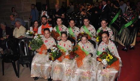 Reines i dames de les festes del Pilar de Fraga d'aquest any.