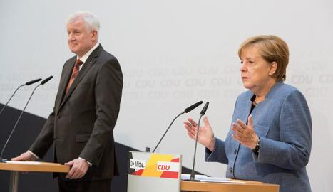 Angela Merkel amb el president de la bavaresa Unió Socialcristiana (CSU), Horst Seehofer.