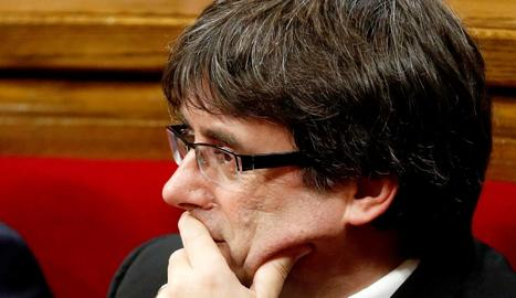 Puigdemont, aquest dimarts al Parlament