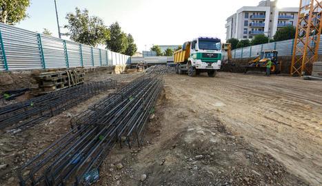Una nova construcció en marxa a Prat de la Riba, a Pardinyes.