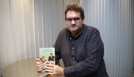 L'escriptor Jordi Puntí, ahir a les instal·lacions del Grup SEGRE.
