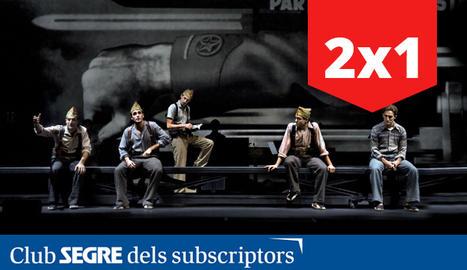 Una escena de l'òpera estrenada al Teatre de la Llotja (Lleida).
