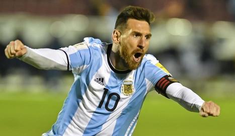 Messi, un altre cop ídol a l'Argentina.